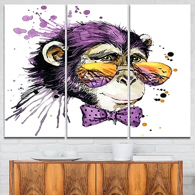 Cool Monkey Animal Metal Wall Art