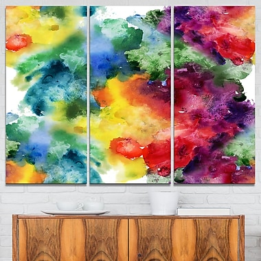 Abstract WaterColour Texture Abstract Metal Wall Art