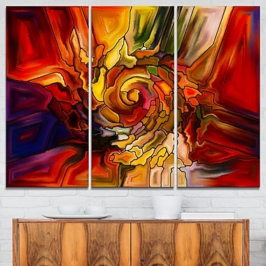 Illusions of Stained Glass Abstract Metal Wall Art