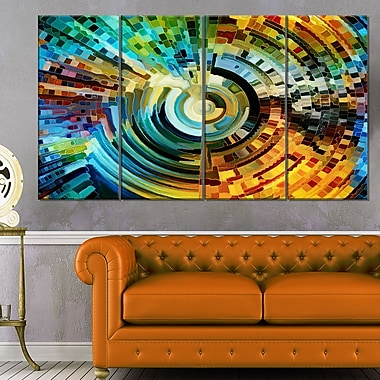 Paths of Stained Glass Abstract Metal Wall Art, 48x28, 4 Panels, (MT6045-271)
