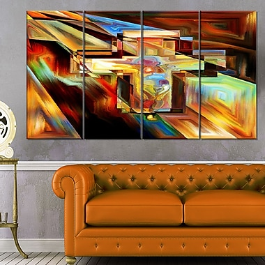 Light of the Cross Abstract Metal Wall Art, 48x28, 4 Panels, (MT6046-271)