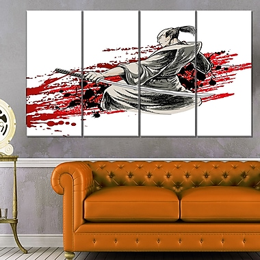 Japan Warrior Japanese Metal Wall Art