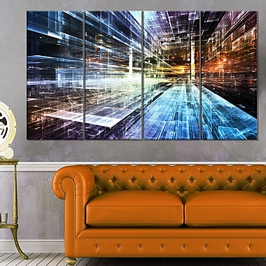 Future Industry Abstract Metal Wall Art