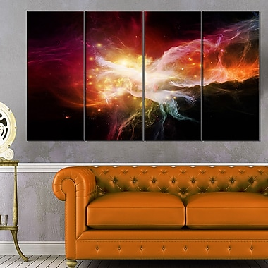 Elegance of Nebulae Abstract Metal Wall Art, 48x28, 4 Panels, (MT6051-271)
