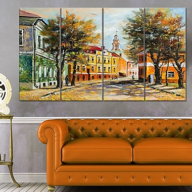 Ancient Vitebsk in Autumn Landscape Metal Wall Art, 48x28, 4 Panels, (MT6082-271)