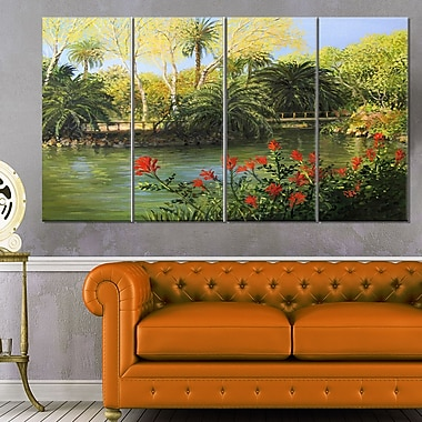 Garden of Eden Landscape Large Metal Wall Art
