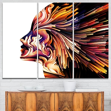 Colours of Imagination Contemporary Metal Wall Art, 36x28, 3 Panels, (MT6105-36-28)
