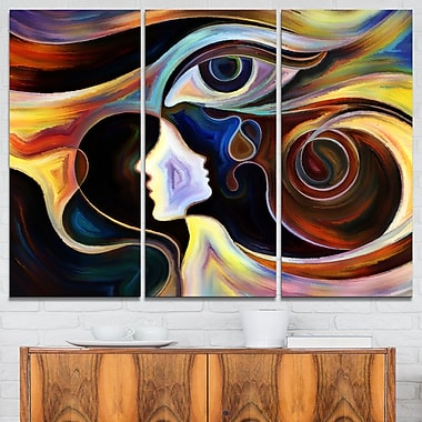 Colourful Intuition Abstract Metal Wall Art, 36x28, 3 Panels, (MT6115-36-28)