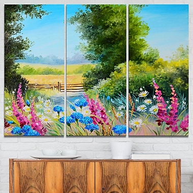 World of Flowers Floral Metal Wall Art
