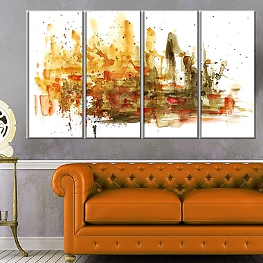 Abstract Composition Art, Abstract Metal Wall Art, 48x28, 4 Panels, (MT6127-271)
