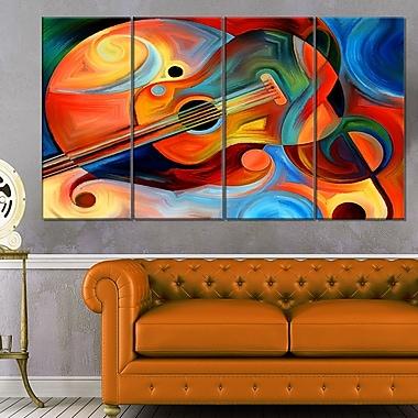 Art mural abstrait en métal, rythme et musique