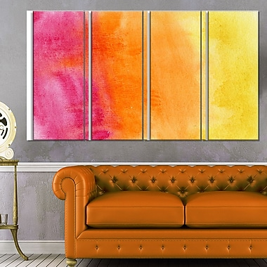 Yellow, Purple Meet Orange Abstract Metal Wall Art, 48x28, 4 Panels, (MT6140-271)