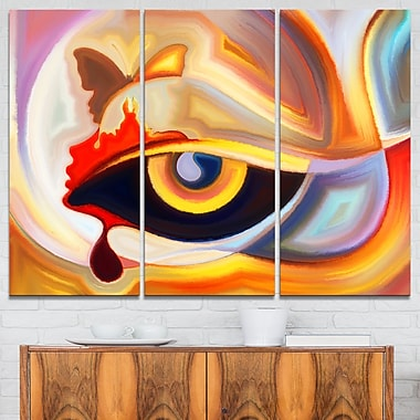Eye's Intuition Abstract Metal Wall Art, 36x28, 3 Panels, (MT6143-36-28)