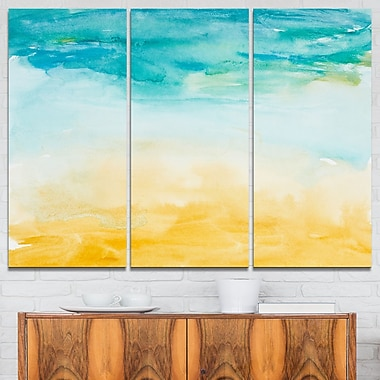 Soil and Sky Strokes Landscape Metal Wall Art, 36x28, 3 Panels, (MT6145-36-28)