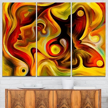 Butterfly's Emotions Abstract Metal Wall Art, 36x28, 3 Panels, (MT6147-36-28)