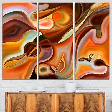 Music Dreams Abstract Metal Wall Art, 36x28, 3 Panels, (MT6148-36-28)