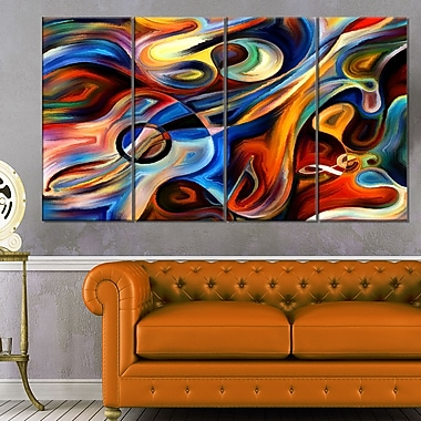 Abstract Music and Rhythm Abstract Metal Wall Art, 48x28, 4 Panels, (MT6152-271)
