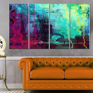 Abstract Digital Painting Abstract Metal Wall Art, 48x28, 4 Panels, (MT6184-271)