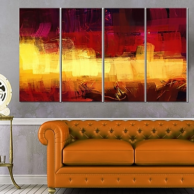 Textured Digital Abstract Art, Abstract Metal Wall Art, 48x28, 4 Panels, (MT6185-271)