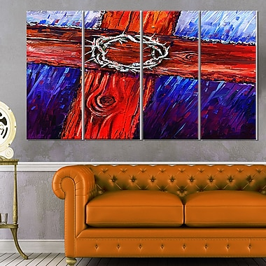 Crown of Thorns Abstract Metal Wall Art, 48x28, 4 Panels, (MT6193-271)