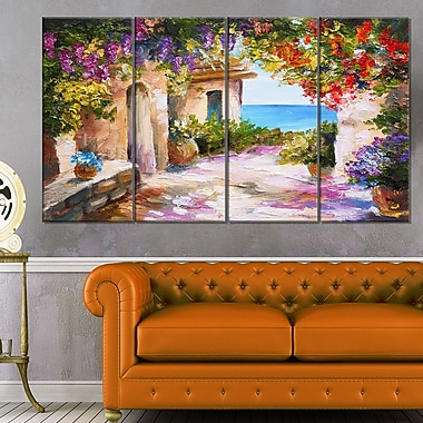Summer Seascape Landscape Metal Wall Art