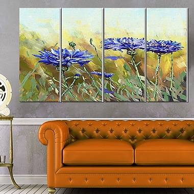 Cornflowers in Full Bloom Floral Metal Wall Art