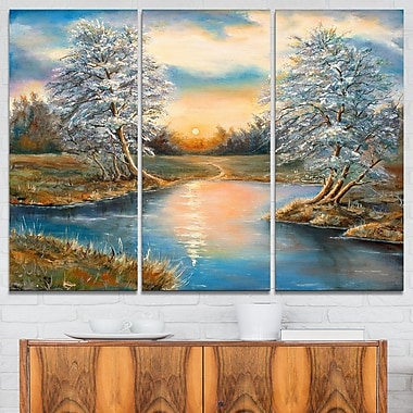 Birches in Autumn Wood Landscape Metal Wall Art, 36x28, 3 Panels, (MT6224-36-28)