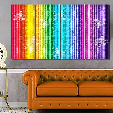 Rainbow Effects Illustration Abstract Metal Wall Art