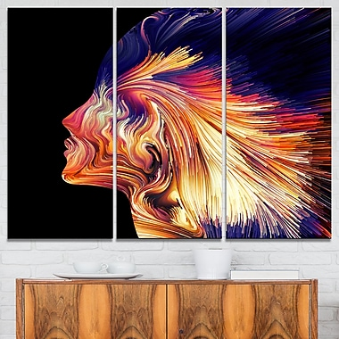 Explosion of Thought Digital Metal Wall Art, 36x28, 3 Panels, (MT6250-36-28)
