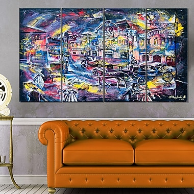 Surreal City in Graphics Abstract Metal Wall Art, 48x28, 4 Panels, (MT6294-271)