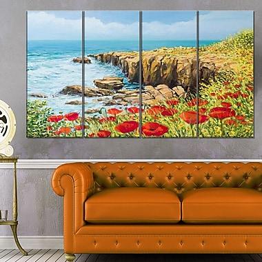 Art mural en métal, paysage, brise d'été, 48 x 28 po, 4 panneaux (MT6305-271)