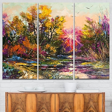 Farewell to Autumn Landscape Metal Wall Art
