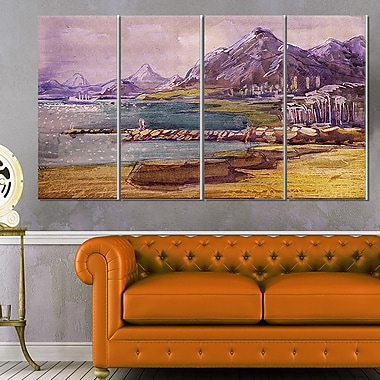 Purple Hills Landscape Metal Wall Art, 48x28, 4 Panels, (MT6355-271)