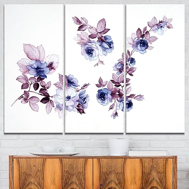 WaterColour Flowers Floral Metal Wall Art