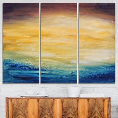Abstract Water Sunset Abstract Metal Wall Art, 36x28, 3 Panels, (MT6374-36-28)