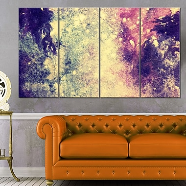 Art mural en métal, abstrait, motif bleu foncé et violet