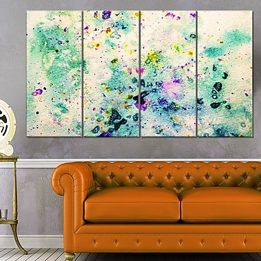 Colour Splatter Abstract Metal Wall Art, 48x28, 4 Panels, (MT6382-271)