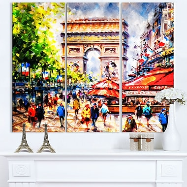 Art mural en métal, paysage urbain, Arc de Triomphe de Paris