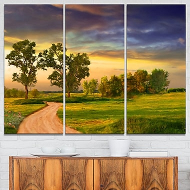 Road to Bliss Landscape Metal Wall Art, 36x28, 3 Panels, (MT6391-36-28)