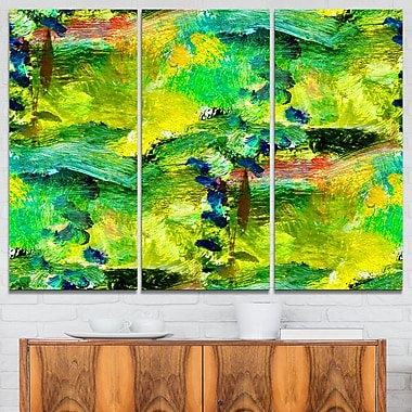 Africa Green Texture Abstract Metal Wall Art, 36x28, 3 Panels, (MT6394-36-28)