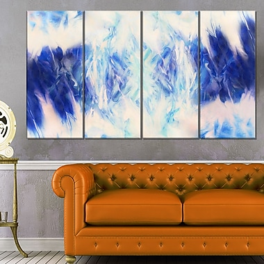 Blue Collage with Spots Abstract Metal Wall Art, 48x28, 4 Panels, (MT6397-271)
