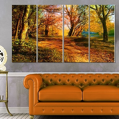 Beauty of Nature Landscape Metal Wall Art, 48x28, 4 Panels, (MT6401-271)