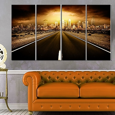 World's End Landscape Photography Metal Wall Art, 48x28, 4 Panels, (MT6406-271)