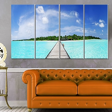 Maldives Panorama Seascape Photography Metal Wall Art, 48x28, 4 Panels, (MT6421-271)