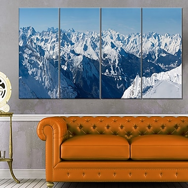 French Alps Panorama Photography Metal Wall Art, 48x28, 4 Panels, (MT6438-271)