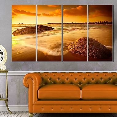 Sun Tinted Beach Photography Metal Wall Art