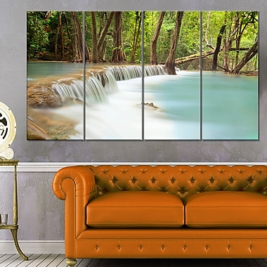 Huai Mae Kamin Waterfall Photography Metal Wall Art, 48x28, 4 Panels, (MT6462-271)