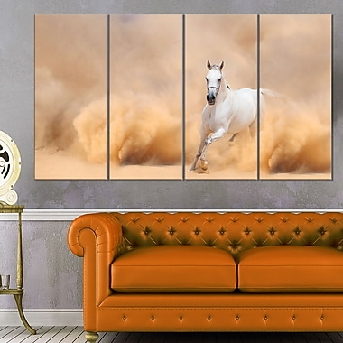 Arabian Horse in Desert Storm Photography Metal Wall Art, 48x28, 4 Panel, (MT6469-271)