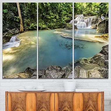 Erawan Waterfall Top View Photography Metal Wall Art