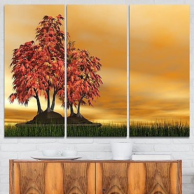 Bonsai Landscape Photography Metal Wall Art